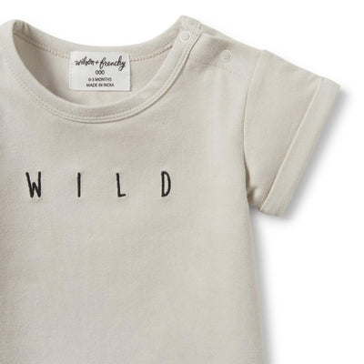 Wilson and Frenchy Silver Birch Wild Rolled Cuff Tee - Tiny People Cool Kids Clothes Byron Bay