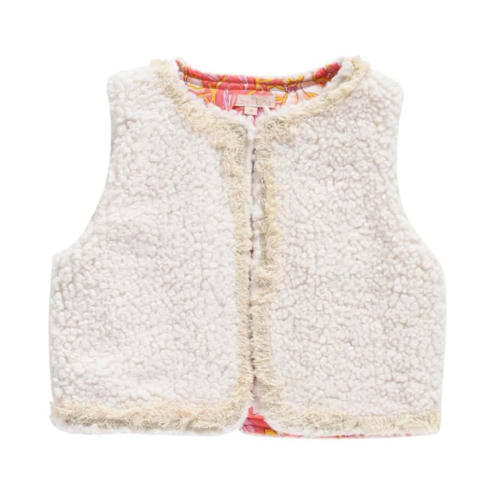 Louise Misha Zileska Gilet in Cream available at Tiny People shop.