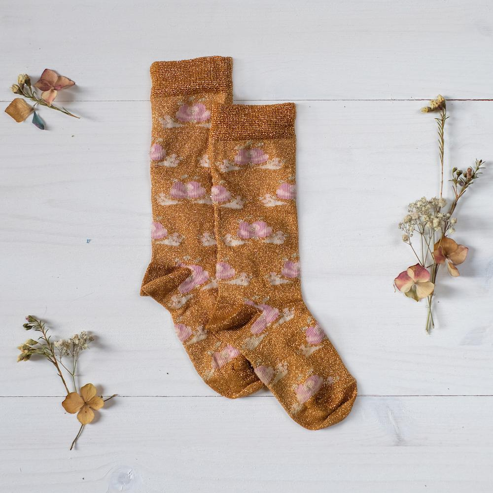 Louise Misha Zokni Socks in Beewax available at Tiny People shop.