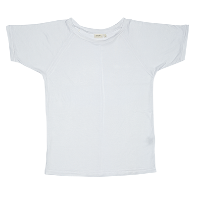 Zuttion Plain S/S Raglan White t-shirt at Tiny People.