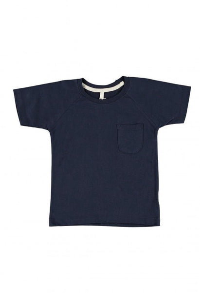 Gray Label Classic Crew Neck Tee Night Blue - Tiny People Cool Kids Clothes Byron Bay