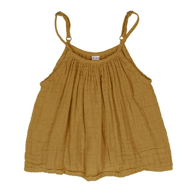 Numero 74 Mia Top Gold Tops & Tees - Tiny People Cool Kids Clothes