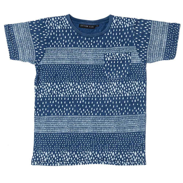 Zuttion 4 Mix Stripes Pocket Tee - Tiny People Cool Kids Clothes
