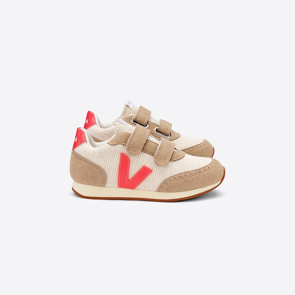Veja Arcade Juta Natural Rose Fluo Butter Sole | Tiny People