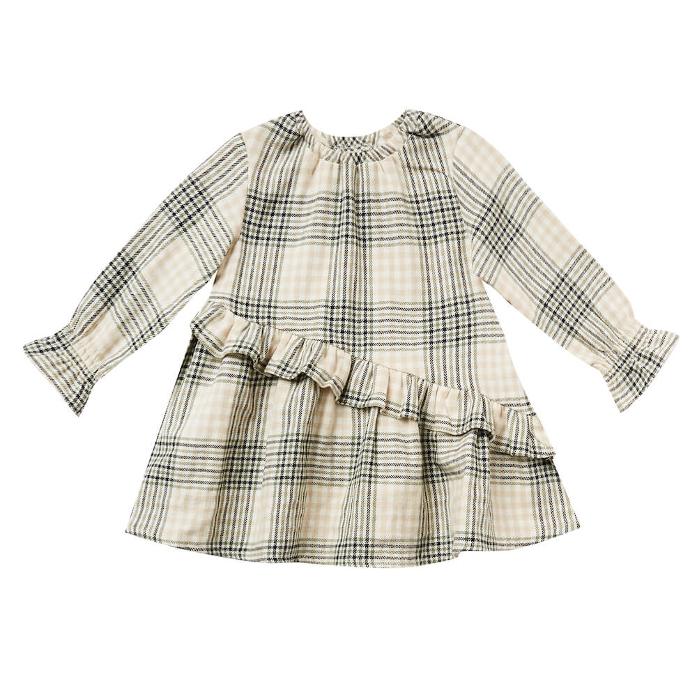 Rylee and Cru Hazel Dress Forest Flannel | Tiny People