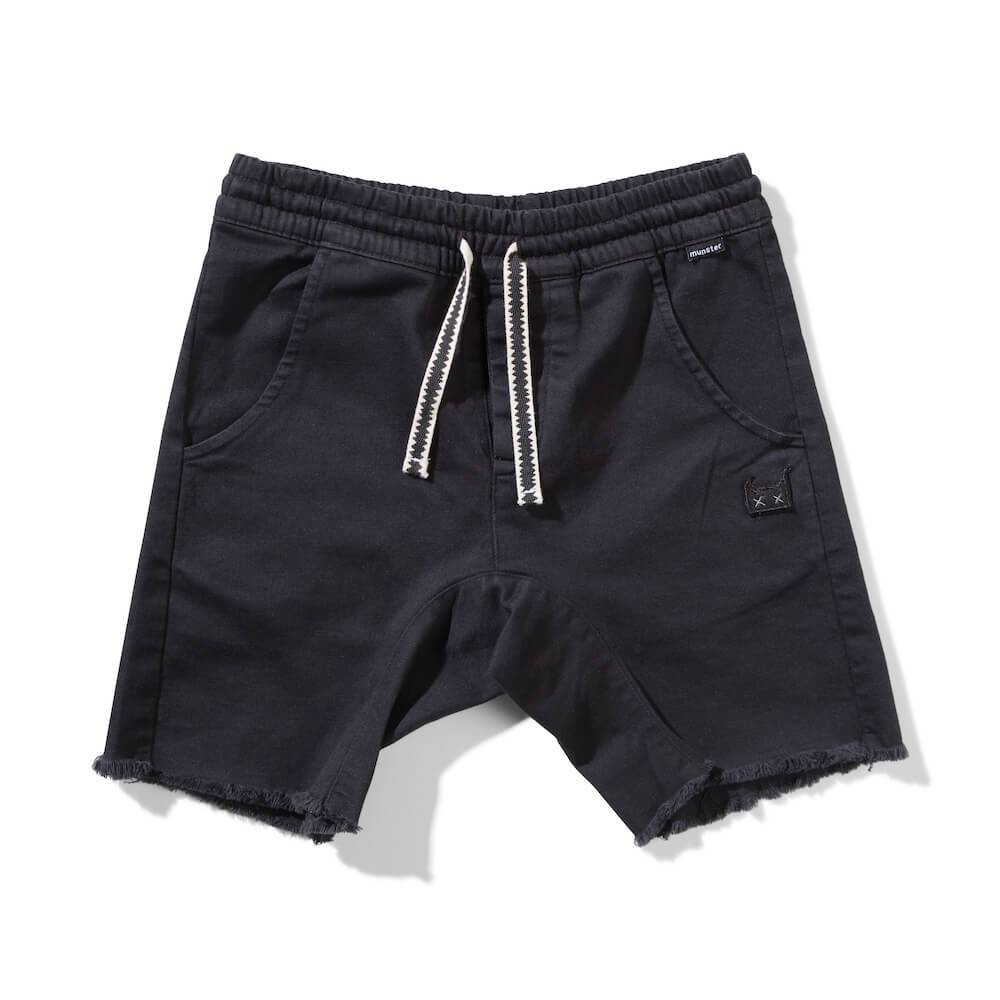 Munster Kids Atlantic Shorts Black Shorts - Tiny People Cool Kids Clothes