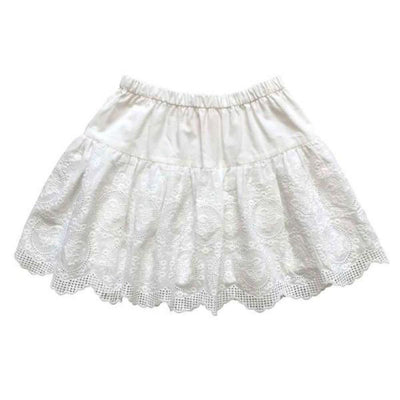 Aubrie Rosa Ruffle Skirt - Cameo Broderie Anglaise - Tiny People Cool Kids Clothes Byron Bay