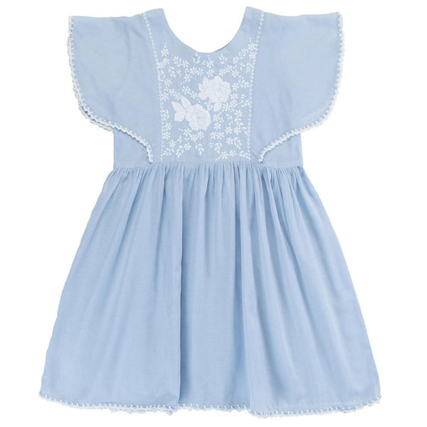 Coco & Ginger Garnett Dress Dusk Blue - Tiny People Cool Kids Clothes