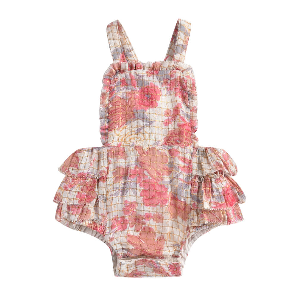 Louise Misha Izamai Romper Pink Flowers | Tiny People