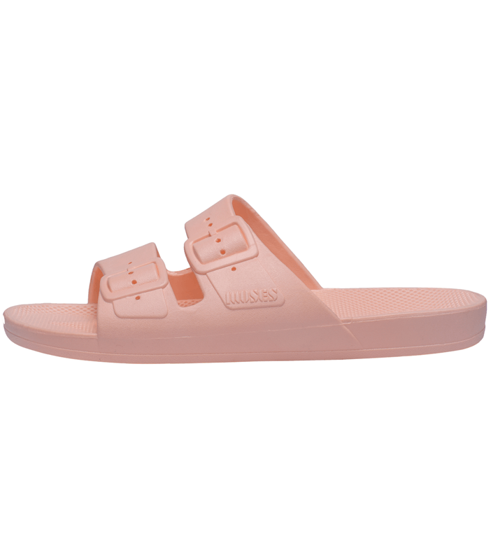 Freedom Moses Slides in Baby Pink at Tiny People