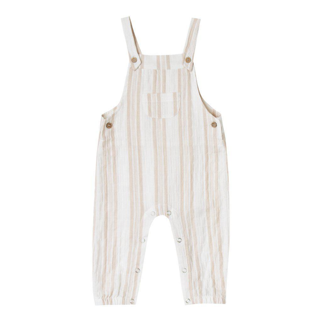 Sand Stripe Baby Overall Coconut