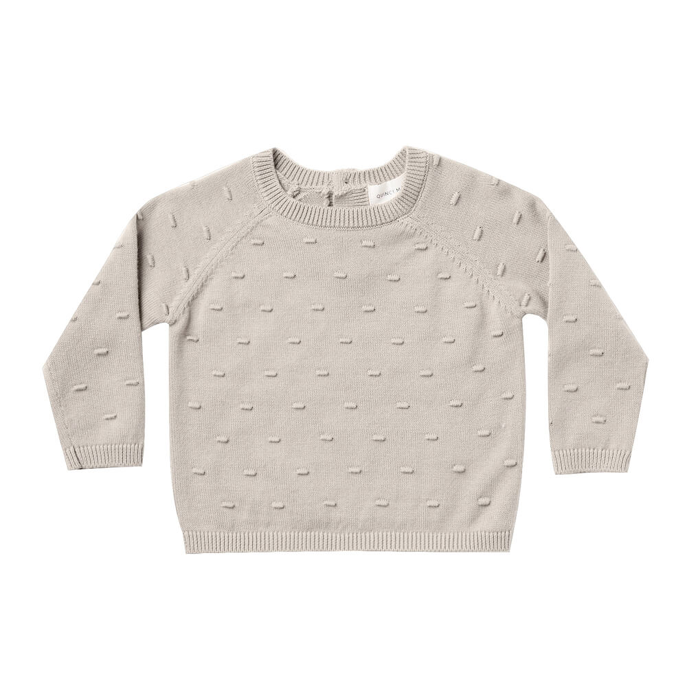 Quincy Mae Bailey Knit Sweater Fog | Tiny People