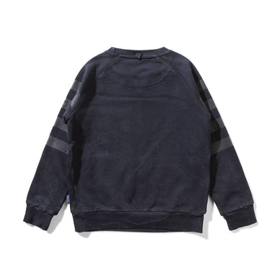 Munster Kids Banded Fleece Crew Black Jumper - Tiny People Cool Kids Clothes