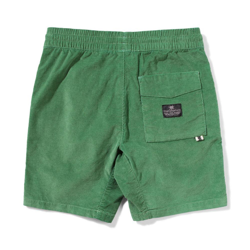 Munster Kids Beat Up Shorts Green Shorts - Tiny People Cool Kids Clothes