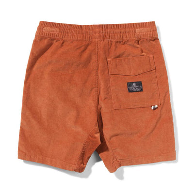 Munster Kids Beat Up Shorts Rust Shorts - Tiny People Cool Kids Clothes
