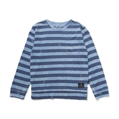 Blades Long Sleeve Tee Washed Blue