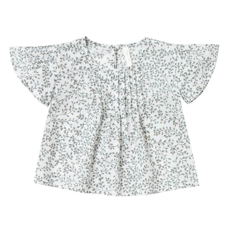 Rylee & Cru Blaire Blouse Dainty Leaves Girls Tops & Tees - Tiny People Cool Kids Clothes