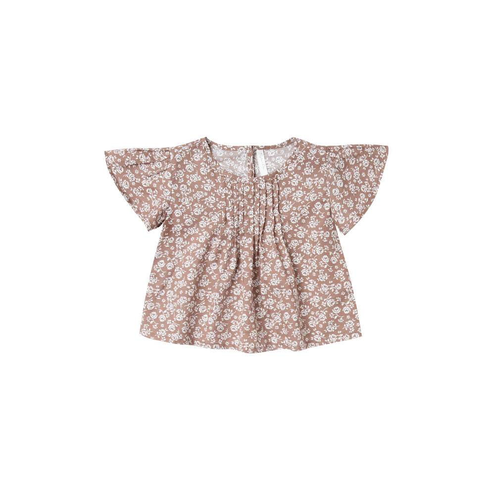 Rylee & Cru Blaire Blouse Vintage Rose Girls Tops & Tees - Tiny People Cool Kids Clothes