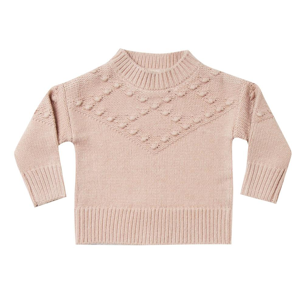 Rylee & Cru Bobble Sweater Rose Girls Tops & Tees - Tiny People Cool Kids Clothes
