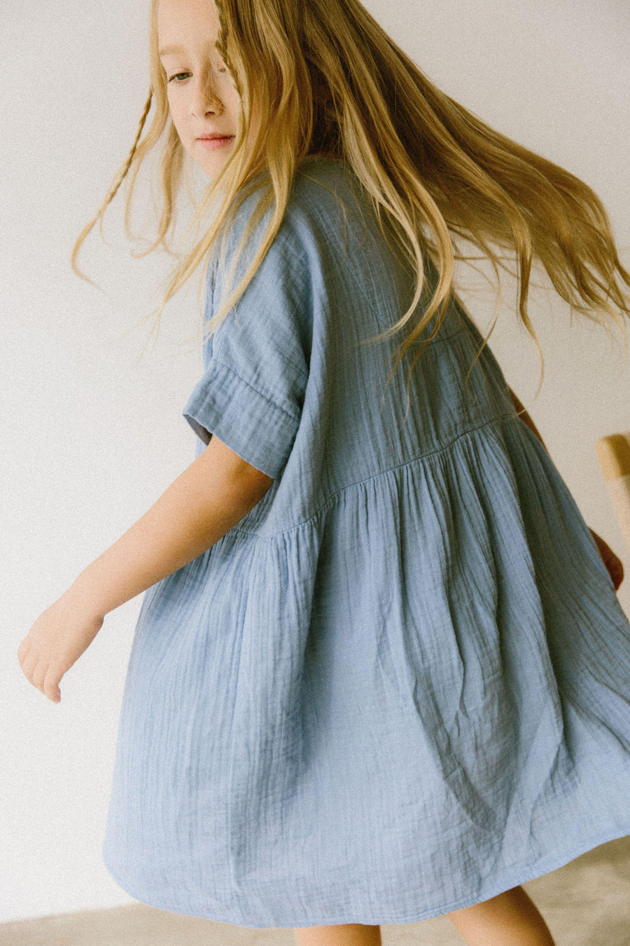 Una Dress Dandelion Blue