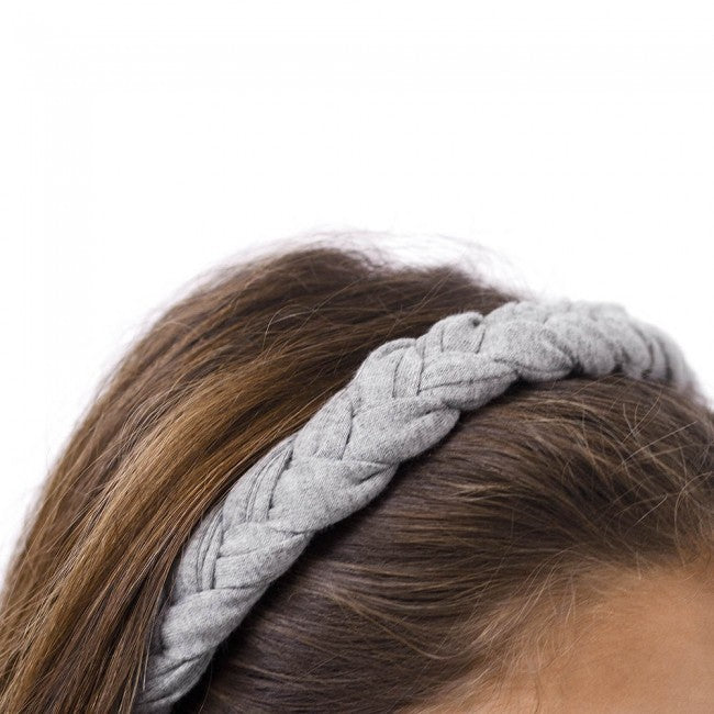 Gray Label Braid Headband (Grey Melange) | Tiny People