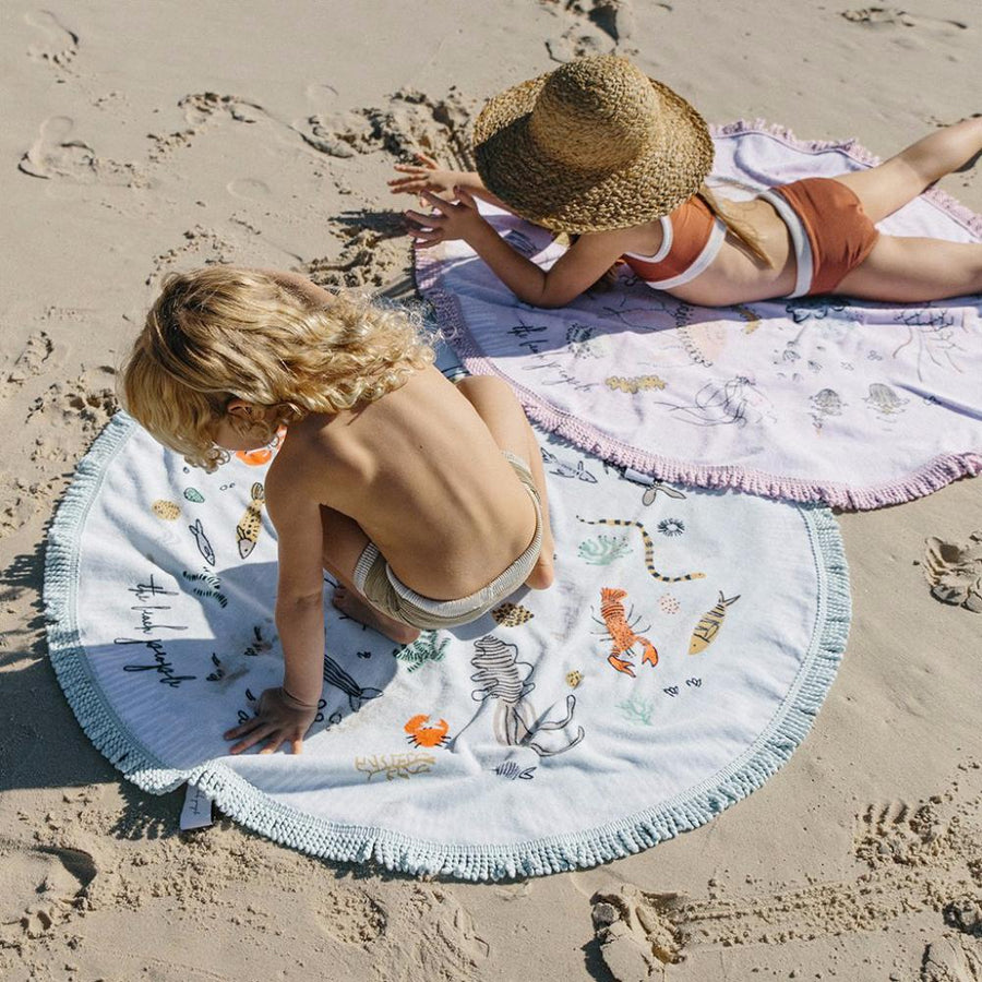 The Beach People Buccaneer Petite Kids Round Beach Towel - Tiny People Cool Kids Clothes Byron Bay
