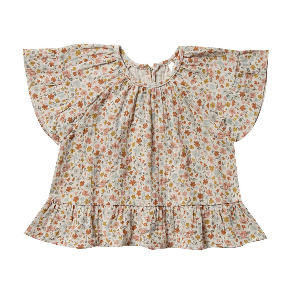 Rylee and Cru Wildflower Peplum Top | Tiny People