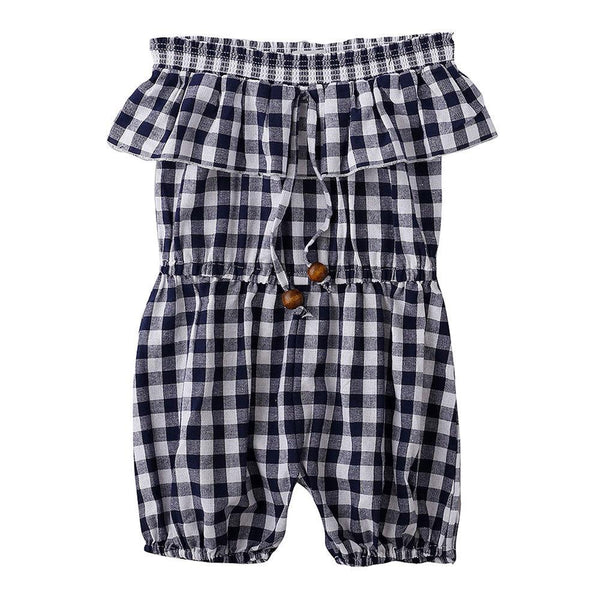 Peggy Paz Jumpsuit Navy Check - Tiny People Cool Kids Clothes