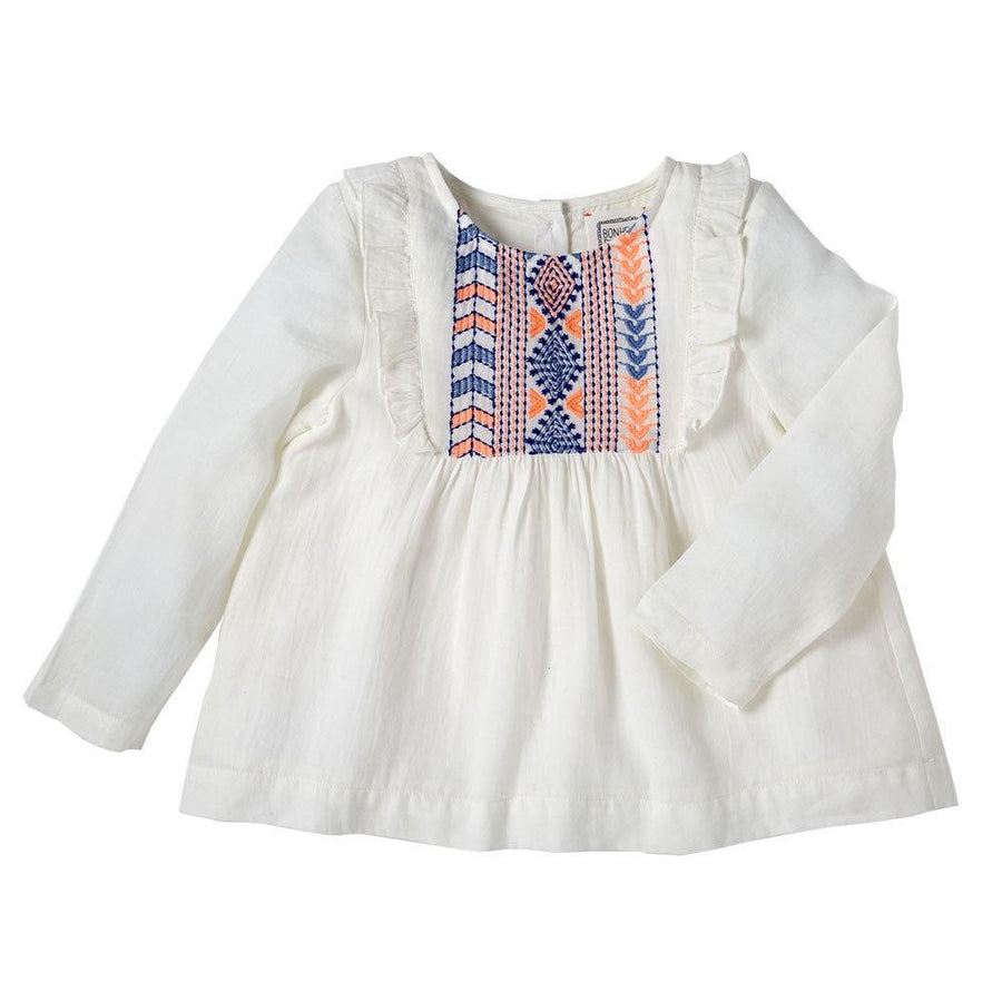 Bonheur du Jour Nolwenn Blouse Ecru - Tiny People Cool Kids Clothes Byron Bay