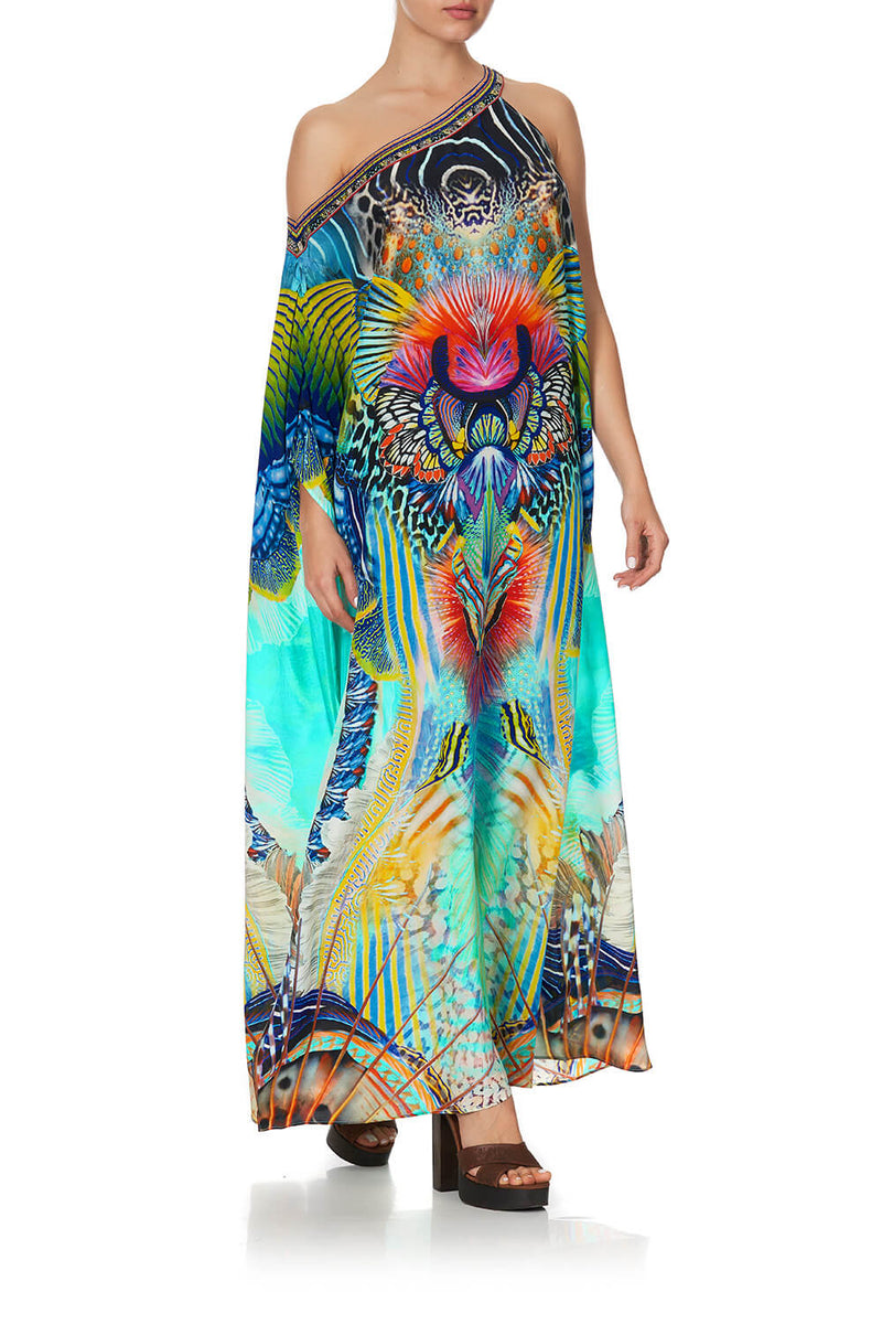 Camilla Reef Warrior One Shoulder Kaftan W/ Neckband | Tiny People