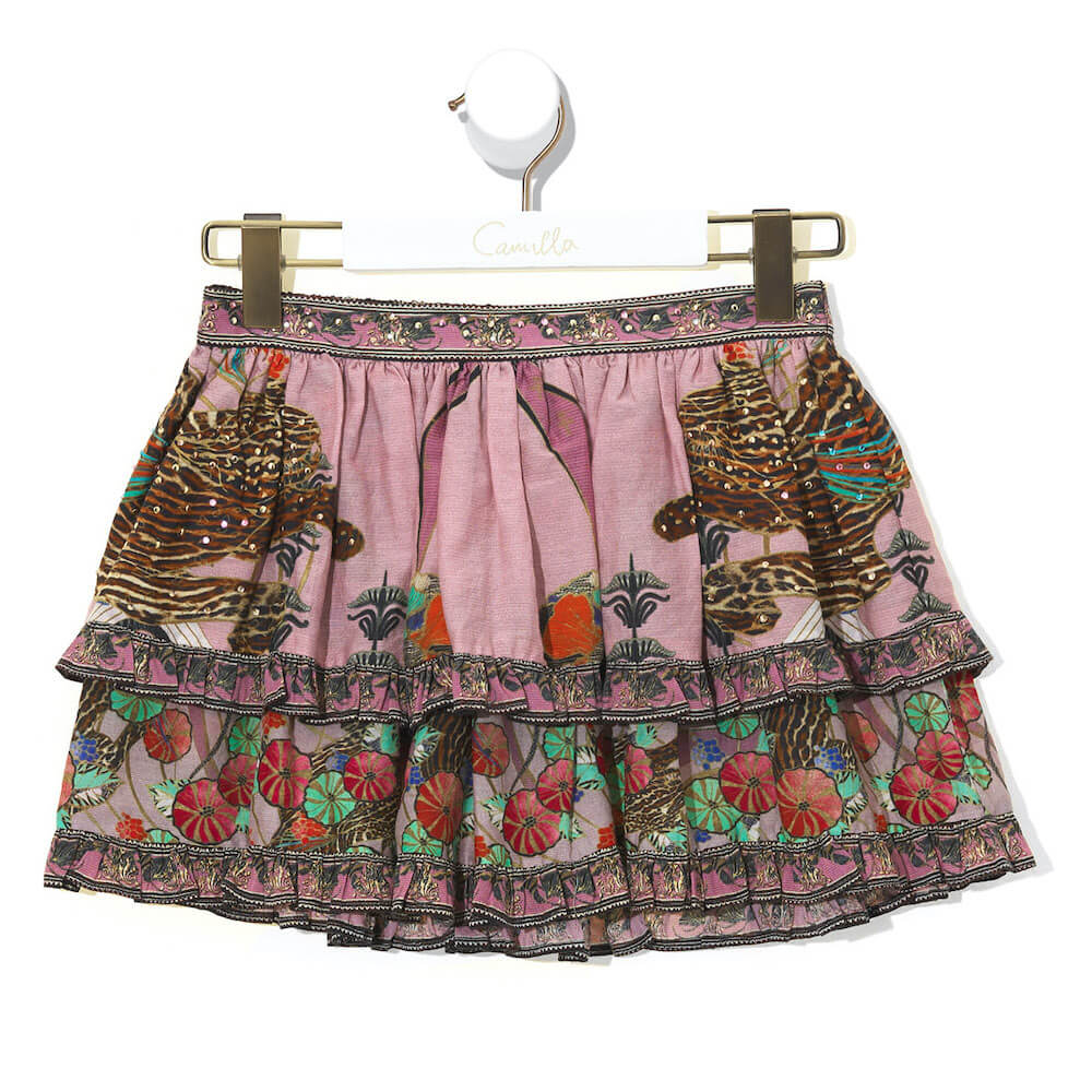 Ziba Ziba Double Layer Frill Skirt