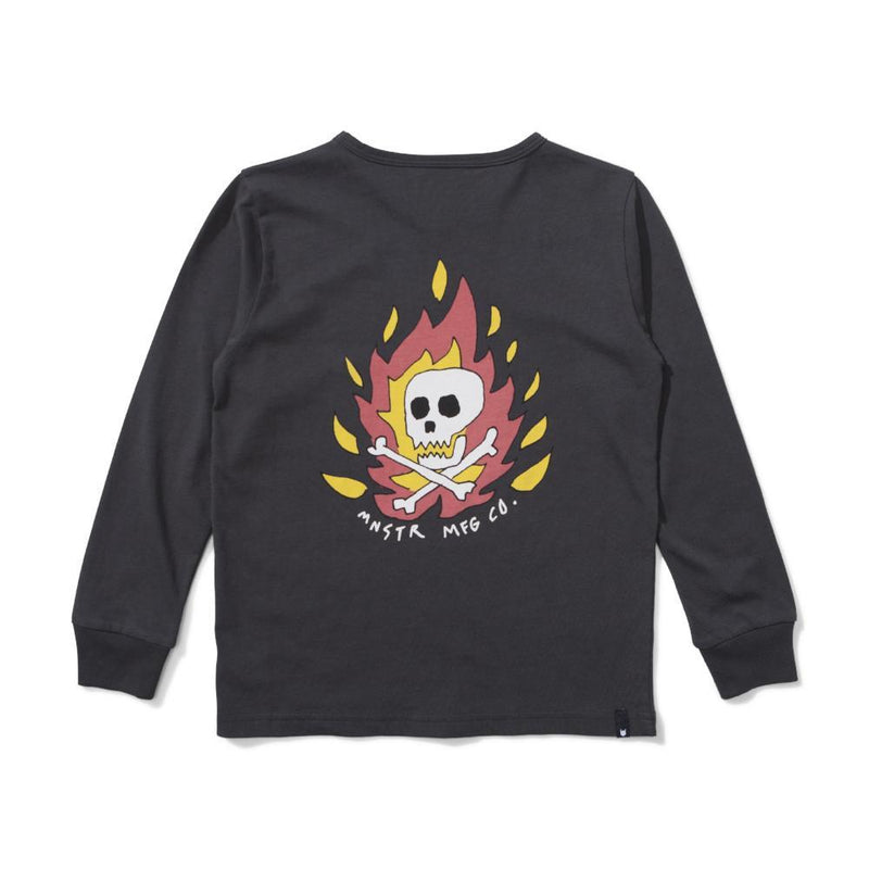 Munster Kids Cape Fear Long Sleeve Tee Soft Black Tops & Tees - Tiny People Cool Kids Clothes