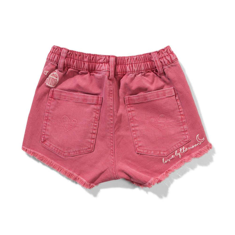 Missie Munster Circa Shorts Washed Red Girls Shorts - Tiny People Cool Kids Clothes