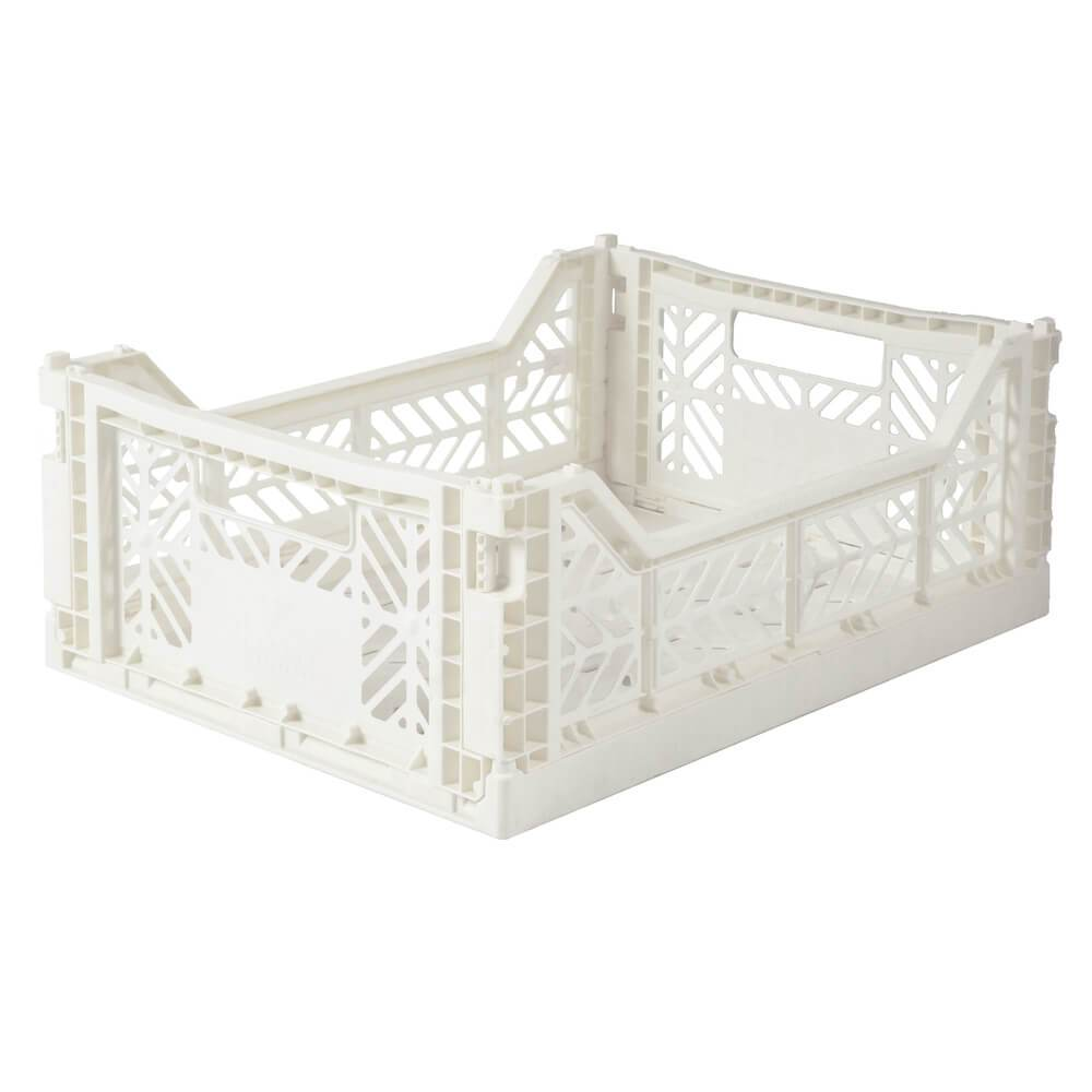 Medium Coconut Milk Folding Crate