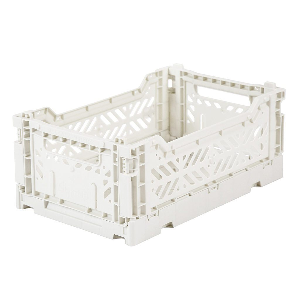 Small Coconut Milk Folding Crate