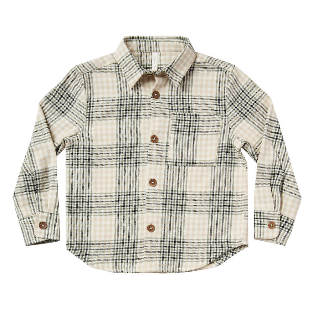 Rylee & Cru Collared Shirt Forest Flannel | Tiny PeopleCollared Shirt Forest Flannel