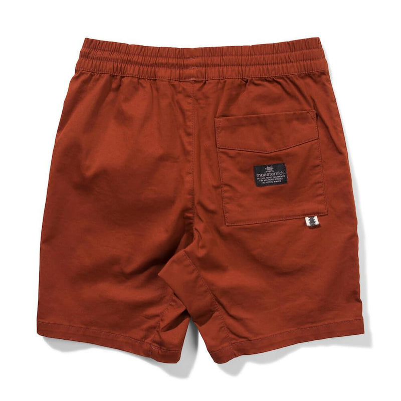 Munster Kids Commune Shorts Rust Shorts - Tiny People Cool Kids Clothes