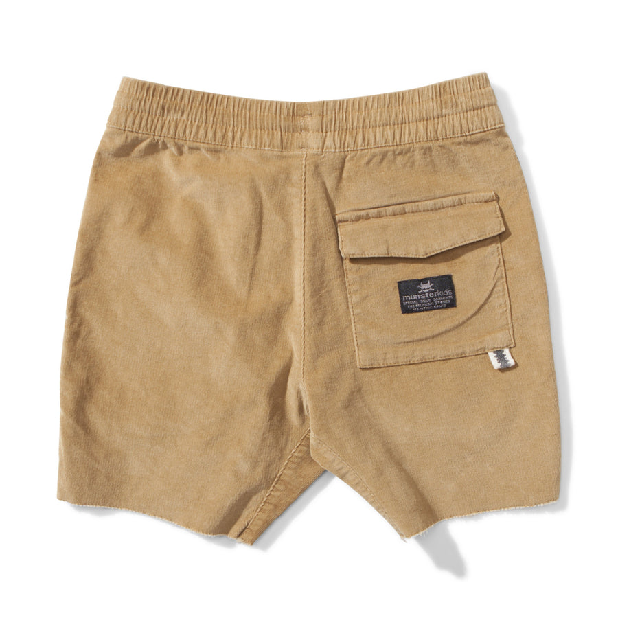 Munster Kids Cords Shorts - Mustard - Tiny People Cool Kids Clothes Byron Bay