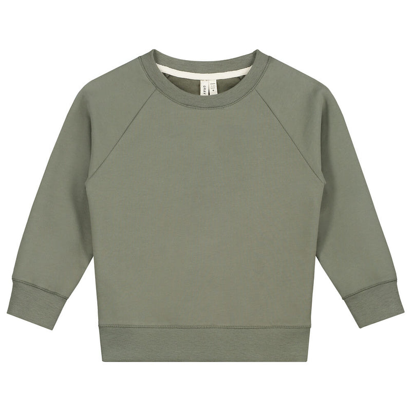 Gray Label Crewneck Sweater (Moss) | Tiny People