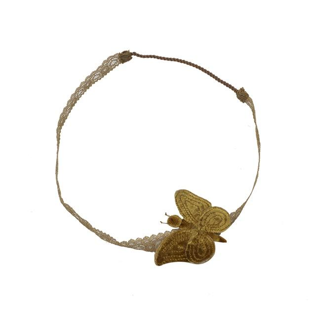 Numero 74 Butterfly Headband Gold Velvet - Tiny People Cool Kids Clothes Byron Bay