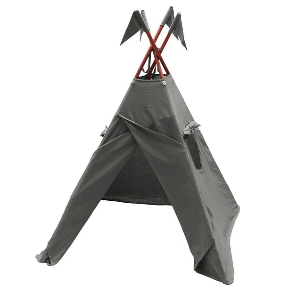 Numero 74 Dark Grey Teepee - Tiny People Cool Kids Clothes Byron Bay