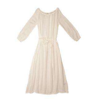 Numero 74 Nina Dress Long Women's Natural Women's Dresses - Tiny People Cool Kids Clothes