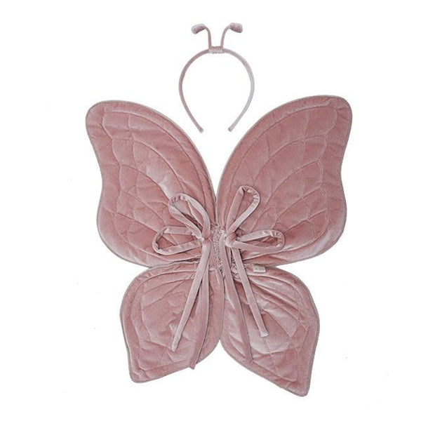 Numero 74 Butterfly Wings Dusty Pink Velvet - Tiny People Cool Kids Clothes