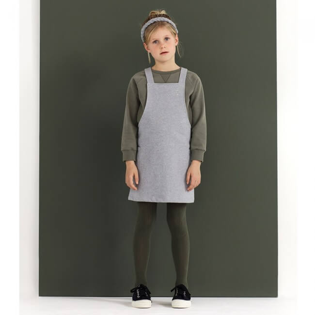 Gray Label Dungaree Dress (Grey Melange) | Tiny People