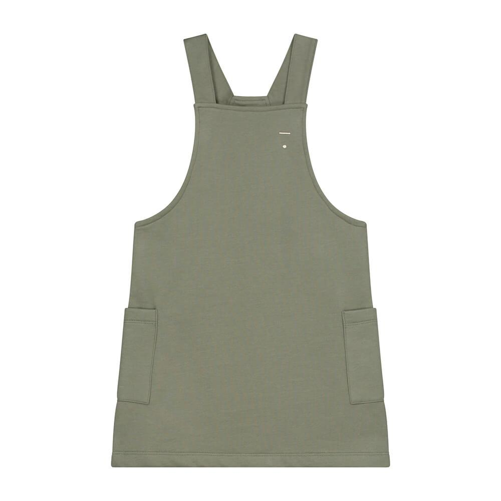 Gray Label Dungaree Dress (Moss) | Tiny People