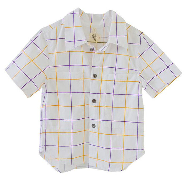 Nico Nico Doc Button Down Shirt Lychee - Tiny People Cool Kids Clothes
