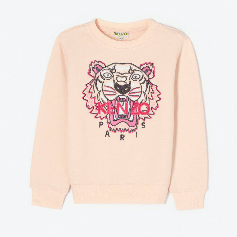 Kenzo Tiger Sweatshirt (Light Pink) | Tiny People