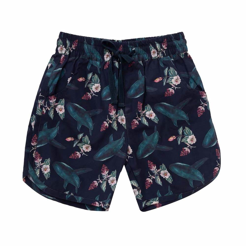 Raised By The Desert Eli Shorts Shark Bouquet | Tiny People