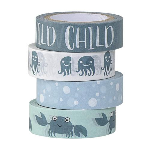 Bloomingville Tape Kids Blue set of 4 stationery - Tiny People Cool Kids Clothes