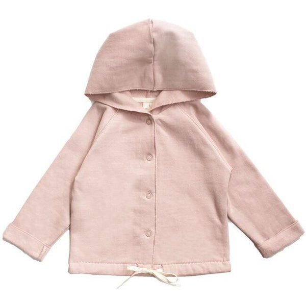 Gray Label Baby Hooded Cardigan Vintage Pink - Tiny People Byron Bay